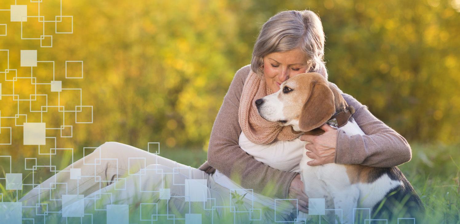 Jubilada con su perro