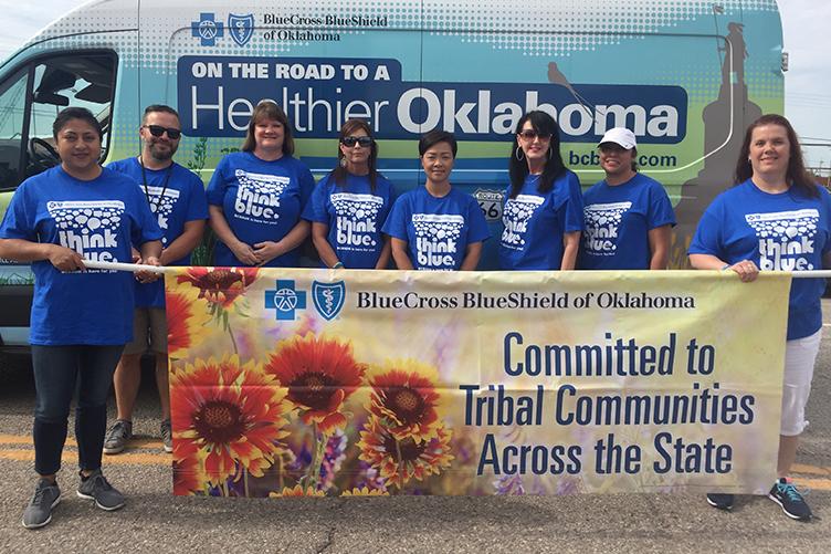 Imagen de compromiso con las comunidades tribales de todo el estado de Blue Cross Blue Shield Oklahoma